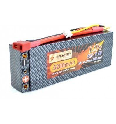 Bateria RC Li-Po 7.4V 5200mAh 50C